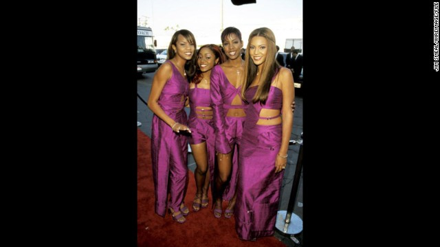 Who ran the world before Beyoncé? Destiny's Child. In 1999, Queen Bey (right) was reigning over a girl group with a rotating cast, but hot singles nonetheless. As listeners prepared for the new millennium, they had Destiny's Child in their ears. Also pictured from left: Former members LaTavia Roberson, LeToya Luckett and Kelly Rowland.