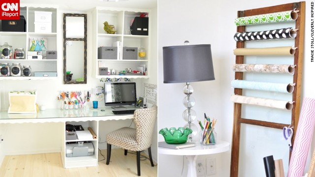 <a href='http://ireport.cnn.com/docs/DOC-1029190'>Tracie Stoll</a>'s craft room and office makes her work tools the <a href='www.cleverlyinspired.com ' target='_blank'>decor focus</a>.
