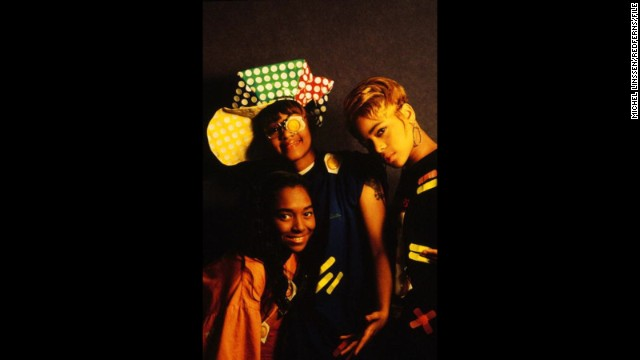 "The ladies of TLC -- that would be Chili, Left-Eye and T-Boz -- made their industry-changing entrance in 1992 with ""Ooooooohhh ... on the TLC Tip."" Between their frank approach to sex (""Ain't 2 Proud 2 Beg""), smart writing (""What About Your Friends"") and distinctive style (yep, the condoms), it makes sense that they <a href='http://www.ew.com/ew/article/0,,310196,00.html' target='_blank'>were hailed as</a> ""a perfect pop group for the times."" Still true, by the way."