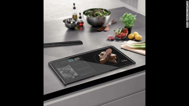 <a href='http://www.yankodesign.com/2012/04/17/digital-cutting-board/' target='_blank'>This digital cutting board</a> is designed to be a touchscreen device, a food scale and a cutting board all in one.