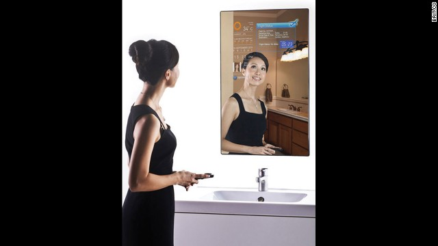 <a href='http://www.brit.co/introducing-the-magic-mirror-2-0/' target='_blank'>The Magic Mirror</a> is a fully functioning Wi-Fi mirror that lets you browse the Web and check the weather while you're brushing your teeth.