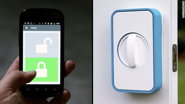 <a href='https://lockitron.com/' target='_blank'>Lockitron</a> lets you use your smartphone to unlock your doors.