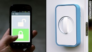Lockitron\'s app lets you use a smartphone to unlock your doors.