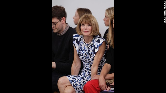Vogue Editor-in-Chief Anna Wintour sits front row at Derek Lam's show.