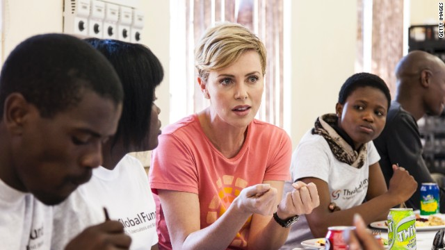 South African actress Charlize Theron advocates for The Global Fund, an organization dedicated to supporting preventative treatment of HIV, AIDS, tuberculosis and malaria.