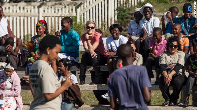 On a recent visit to KwaZulu Natal, South Africa,Theron spoke to young people about HIV. Around 1.6 million people in the province are HIV positive, with 25% of 15- to 24-year-olds carrying the virus.