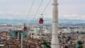 A ropeway hangs above the Brazilian city of Rio de Janeiro.