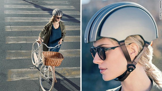 <a href='http://carreraworld.com/gb/' target='_blank'>Carrera</a>'s new foldable helmet is a 'revolution in city bike protection'. It's flexible frame means you can stash it away in a bag with no compromise on safety.