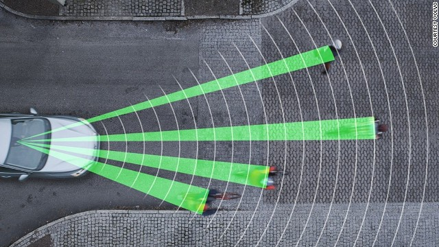 This one's for cars rather than bikes but it's still a great tool for safety on the roads. Volvo recently won a 'Techies' award for their <a href='http://www.techradar.com/news/car-tech/volvo-debuts-world-s-first-cyclist-detection-system-with-full-auto-brake-1141471' target='_blank'>Cyclist Detection System</a>, which alerts drivers to nearby cyclists and automatically applies the brakes if they get too close.