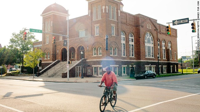 The 16th Street Baptist Church in downtown Birmingham, Alabama, was a fixture in the civil rights movement -- even more so after a bombing there on September 15, 1963, killed four girls.