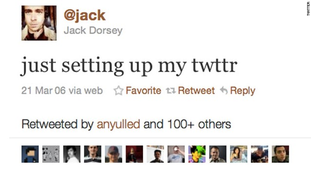 "In the early going, founders were using the vowel-free ""Twttr"" because they were focused on mobile and hoped to get the SMS shortcode 89887 (TWTTR). Unfortunately, according to co-founder Jack Dorsey, that was already owned by Teen People. This was his first tweet."