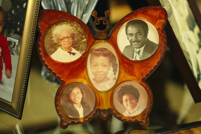 Photos of Denise McNair, center, her parents and the sisters she never knew.