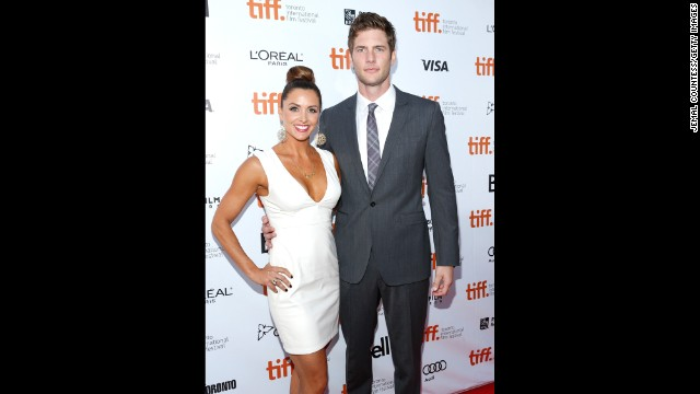 """Danielle Kirlin and Ryan McPartlin attend """"The Right Kind of Wrong"""" premiere September 12."""