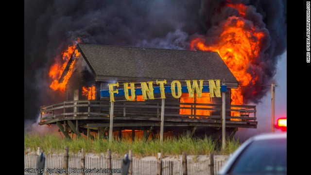On Thursday, September 12, flames raged for over nine hours on Seaside Park's boardwalk. As many as 50 businesses were destroyed along four blocks of the Seaside Heights and Seaside Park boardwalk.