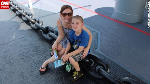 "Crookston is remarried and still has no plans for more children. The family took a vacation to Virginia Beach and Washington and toured the USS Wisconsin in Norfolk. ""I love that as my son gets older, we are able to do these things with him without having to cater to a baby,"" the author said."