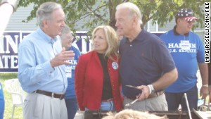 Then-Sen. Biden attended the Harkin steak fry in 2007 during Biden\'s last presidential bid.