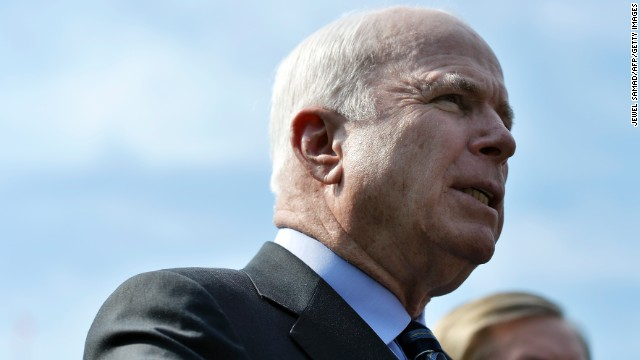 John McCain gets petitioned on gay rights – from his wife.