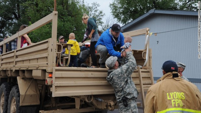 National Guard evacuates flood victims
