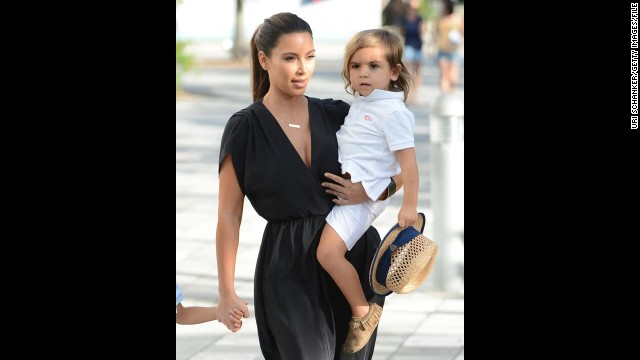 Mason was the second most-popular name for boys in 2012. Reality TV stars Kourtney Kardashian and Scott Disick named their first child Mason in 2009. He's seen here with aunt Kim.