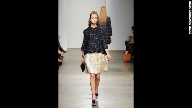 Karen Walker's fall 2012 fashion show during New York Fashion Week in February 2012.