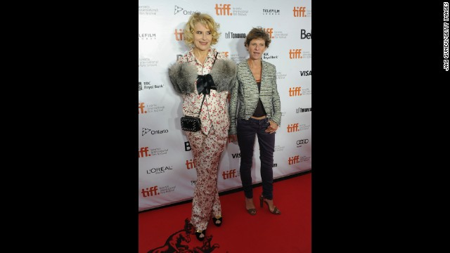 """Actress Fanny Ardant and writer/director Marion Vernoux attend the """"Bright Days Ahead"""" premiere on September 13."""