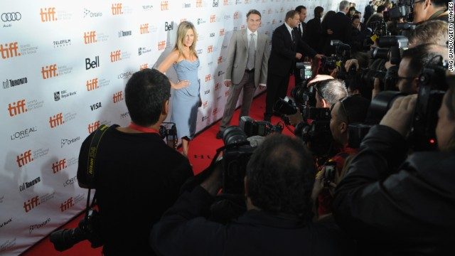 "Jennifer Aniston arrives at the ""Life of Crime"" premiere during the 2013 Toronto International Film Festival on Saturday, September 14. The festival wrapped up September 15. More than 200 features were shown, including 100-plus world premieres."