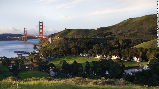 Ask for a room with a view at Cavallo Point, located at Golden Gate National Recreation Area, and find sweeping views of the Golden Gate Bridge and San Francisco Bay.