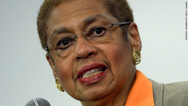 """Rep. Eleanor Holmes Norton, D-Washington, briefs members of the media at a Washington government building on September 16. """"Washington needs a lot more answers,"""" Norton said <a href='http://www.cnn.com/2013/09/17/us/navy-yard-shooting-military-contractors/index.html'>in an interview with CNN</a> on Tuesday, September 17."""