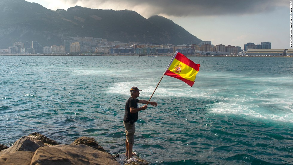 A Spanish fisherman protests the construction of an artificial reef near the <a href='http://www.cnn.com/2013/08/05/world/europe/uk-spain-gibraltar/index.html'>disputed British territory of Gibraltar</a> in August. The area is not the only territorial issue in Spain. <a href='http://www.cnn.com/2013/09/11/world/europe/spain-human-chain/'>Catalonia is gunning for independence</a>, with a referendum in the cards for 2014.