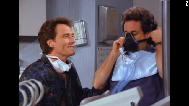 "<strong>Bryan Cranston</strong> has a memorable reoccurring role in ""Seinfeld"" as Jerry's dentist, Dr. Tim Whatley. Among his story lines: He is caught ""re-gifting"" a label maker, stocking his dentist's office with pornographic magazines, throwing a party Jerry may or may not have been invited to and accusing Jerry of being an anti-dentite (biased against dentists). Cranston later won three Emmys for best actor as Walter White in ""Breaking Bad."""
