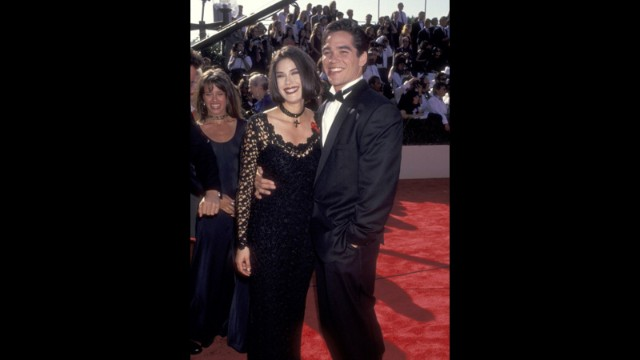 """Lois & Clark: The New Adventures of Superman"" co-stars Teri Hatcher and Dean Cain stuck close on the red carpet at the 1993 Emmy Awards. The series recently celebrated the 30th anniversary of its pilot episode."