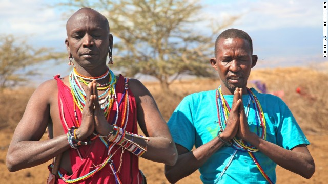 The Maasai yoga instructors say the combination of yoga and their lifestyle can bring both mental