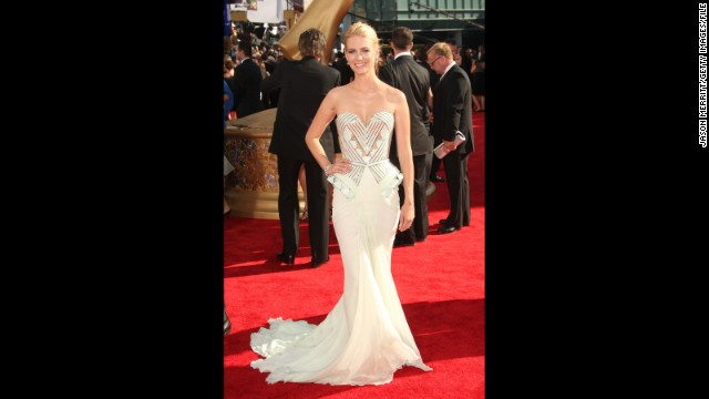 """Mad Men"" actress January Jones did an updated take on old Hollywood glamour at the 2009 Emmy Awards."