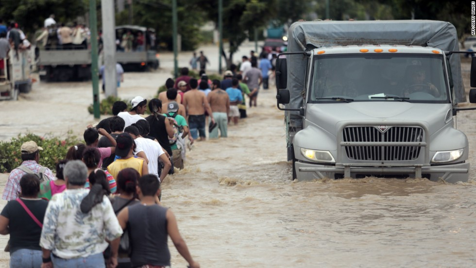 Devastación en México