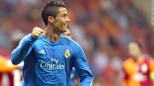 Money well spent: Christiano Ronaldo celebrates his hat trick for Real Madrid in Istanbul