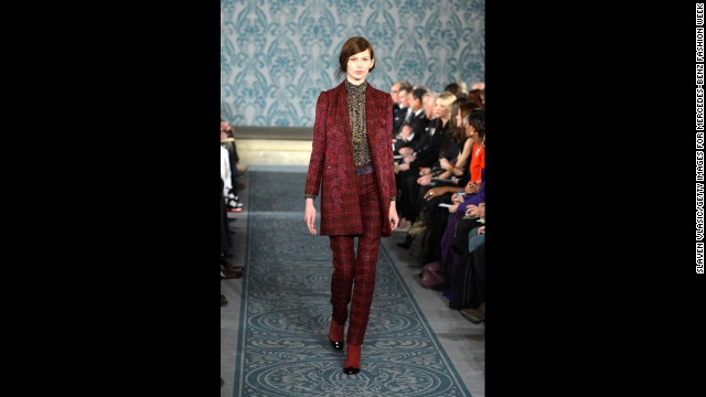 Tory Burch's fall 2013 show during Mercedes-Benz Fashion Week in February.