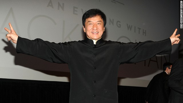 Yes, we can understand the words that are coming out of your mouth -- Jackie Chan says he's going to open a theme park in Beijing. (File photo)