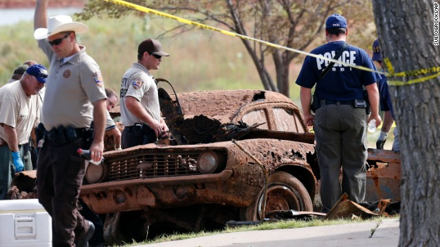 The Oklahoma medical examiner has determined that the remains found in the second car, a 1969 blue Camaro, match the gender and age range of three teens who disappeared in 1970 when 16-year-old Jimmy Williams of Sayre, Oklahoma, drove his car with Thomas Rios and Leah Johnson, both 18, as passengers.