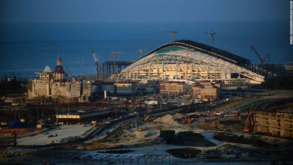 The main 40,000 all-seater Olympic Stadium, which has been nicknamed 'the fish' will host the opening and closing ceremonies.