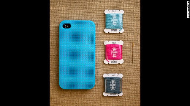 Analog, meet digital. This custom <a href='http://www.purlsoho.com/purl/products/item/8333-Leese-Design-iPhone-4-4S-Cross-Stitch-Case' target='_blank'>cross-stitch case</a> from Purl Soho is perfect for crafters everywhere.