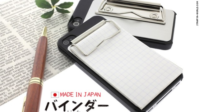 Perfect for scratching down notes on the go, the <a href='http://www.strapya-world.com/categories/Binder-iPhone-4S_4-Case/6034_6735_6332_6381_6782_7133.html' target='_blank'>clipboard case</a> is a journal-keeper's dream.