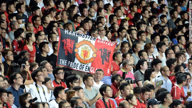 Manchester United played a pre-season game in Hong Kong in July and is hugely popular in Asia.