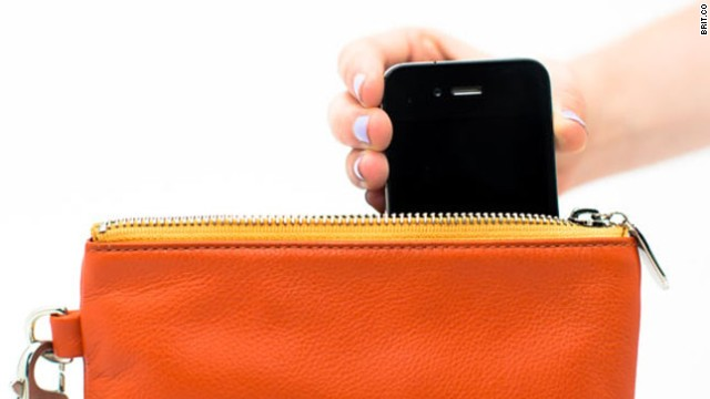 Charge your phone just by dropping it into the pocket of an <a href='http://www.brit.co/everpurse-charges-your-iphone-all-day-long/' target='_blank'>Everpurse</a>.
