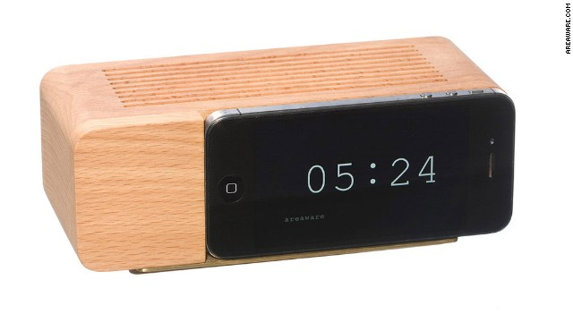 The flip clock is back, this time in digital form by <a href='http://www.areaware.com/collections/desk-office/products/iphone5-alarm-dock' target='_blank'>Areaware</a>.