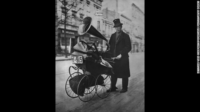 Edison phonograph records were cylindrical. The gramophone record disc was invented by Emile Berliner in the late 1880s and soon surpassed Edison cylinders as the preferred recording technology ... not that it was easy to take on the road.