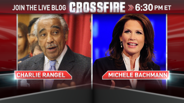 In the Crossfire: Reps. Michele Bachmann and Charles Rangel
