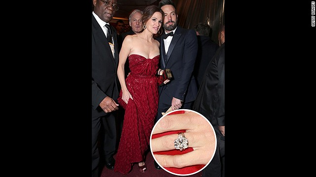 The actor-turned-award-winning-director declared his love for wife Jennifer Garner with this 4.5-carat gem.