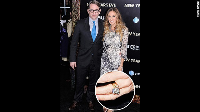 One of Hollywood's longest standing marriages started when Matthew Broderick gave Sarah Jessica Parker this beautifully cut yellow gold diamond ring.<!-- --> </br>