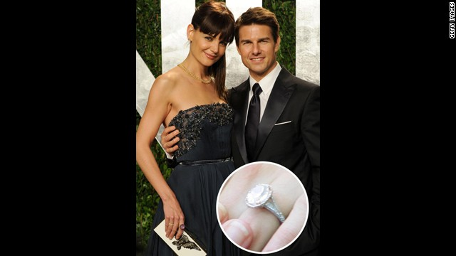 Katie Holmes's five-carat oval-shaped engagement ring from ex-husband Tom Cruise is definitely a stunner for the books.<!-- --> </br>