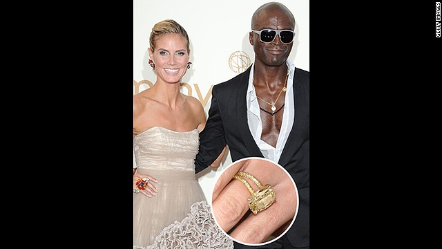 Despite this gorgeous yellow 10-carat engagement ring (given to Heidi Klum on top of a glacier!), Klum and Seal's marriage sadly ended in 2012.<!-- --> </br>